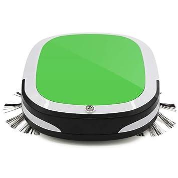 Aspirador Robot de barrido, ultrafino, barrido y barrido, robot de barrido inteligente hogareño (verde): Amazon.es: Hogar