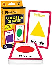 Carson Dellosa Colors and Shapes Flash Cards—Double-Sided, Essential Shapes, Basic Colors, Names With Illustra