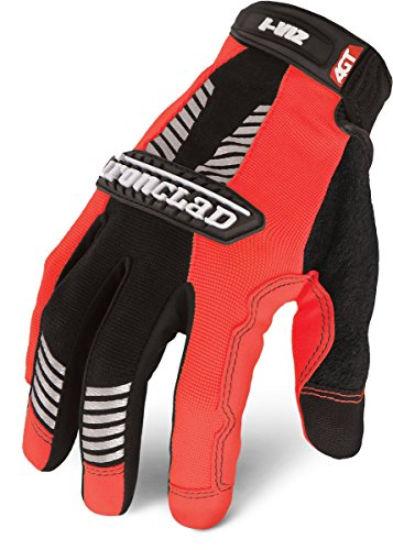 Ironclad IVO2-05-XL I-Viz Reflective Orange 2 Glove, X-Large, 1-Pack -