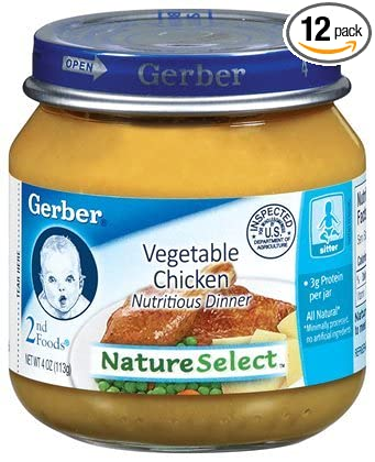 Gerber 2nd Foods Chicken With Vegetables 4 Ounce Jars Pack Of 12
