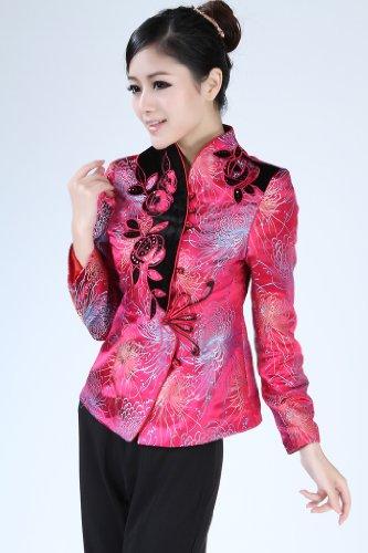 Style Chinois Des Femme Rose Veste Belle Elégante costume Tang Jtc wXqYpFp