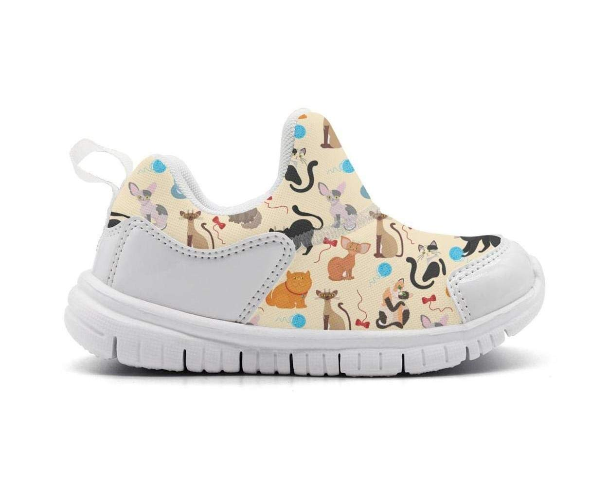 ONEYUAN Children Persian Cat and Sphynx Play Ball Kid Casual Lightweight Sport Shoes Sneakers Walking Athletic Shoes