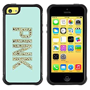 Jordan Colourful Shop@ Pink Gold Glitter Bling Mint Green Rugged hybrid Protection Impact Case Cover For iphone 5C CASE Cover ,iphone 5C case,iphone5C cover ,Cases for iphone 5C