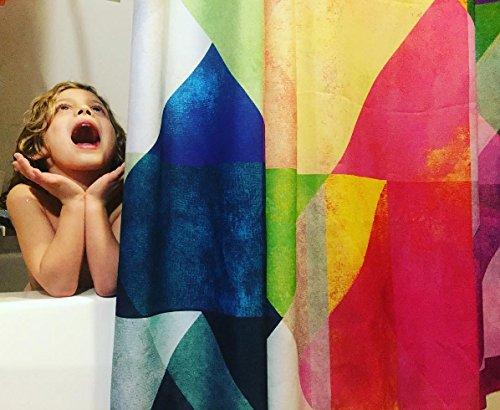 Kess InHouse Catherine Holcombe Beach Blanket Bingo Shower Curtain, 69 by 70-Inch by Kess InHouse