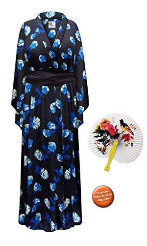 Blue Rose Geisha Robe Plus Size Supersize Halloween Costume - Basic Kit 5x/6x