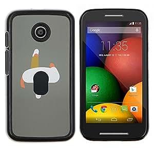 """Be-Star Único Patrón Plástico Duro Fundas Cover Cubre Hard Case Cover Para Motorola Moto E / XT1021 / XT1022 ( Arte Hombre 2D Minimalista Gris Diseño"""" )"""