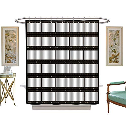 (luvoluxhome Shower Curtains Fabric Contact Sheet Paper in Bathroom Accessories W69 x L84)