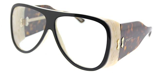58ffe9cd69d Image Unavailable. Image not available for. Color  Gucci GG0149S Sunglasses  002 Black Havana ...
