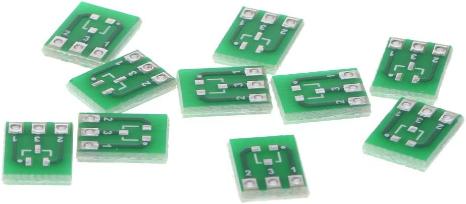 JENOR 10 St/ücke Double-Side SMD SOT23-3 DIP SIP3 Adapter Platine DIY Konverter