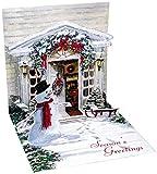 3D Greeting Card - HOLIDAY DOOR - Christmas
