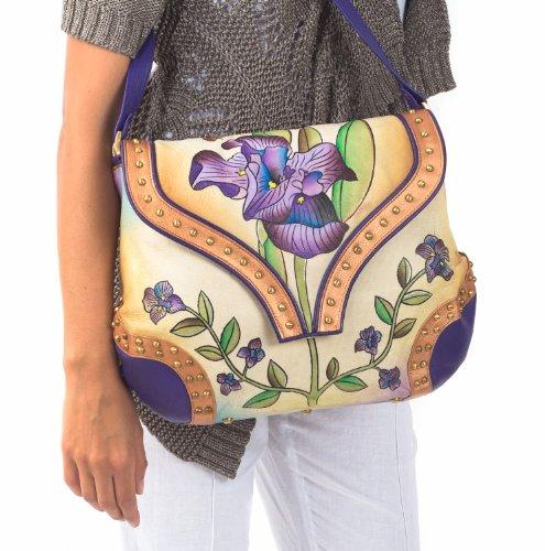 Zimbelmann Lili Lennja Sac bandoulière pour femme en cuir nappa peint à la main