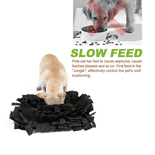 Pet Snuffle Mat Feeding Mat for Dogs Encourages Natural Foraging Skills Nosework Blanket Dog Training Mats Durable and Machine Washable Dogs Puzzle Toys by DogLemi (Image #3)