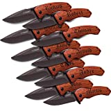 Personalized Pocket Knife Groomsmen Gift Wedding Bachelor Party (SET OF 10)