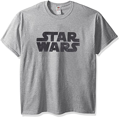 Logo Graphic Tee - Star Wars Men's Simplest Logo Graphic Tee, Athletic Heather, Large