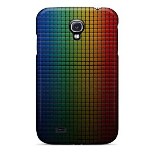 Hard Plastic Galaxy S4 Case Back Cover,hot Colorful Dark Grid Case At Perfect Diy