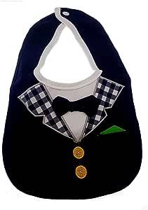 Babero para bebé elegante con mariposas - Camisa blanca y golfín azul con pañuelo bolsillo verde Accesorio Idea regalo para niños: Amazon.es: Bebé