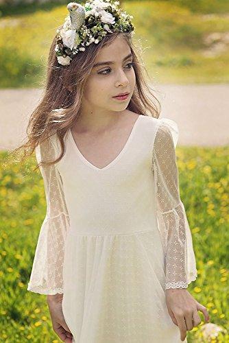 5cd7fe760f Jual Sittingley Boho-Chic Flower Girl Dress Lace First Communion ...