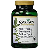 Swanson Milk Thistle, Dandelion & Yellow Dock 120 Caps