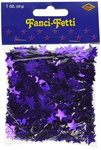 Beistle Company 50621-PL Confetti Stars, 1 oz, Purple]()