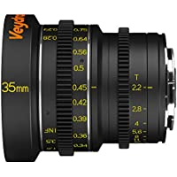 Veydra V1-35T22SONYEM Mini Prime 35mm T2.2 Sony E Metric Cinema Lens with Manual Focus, Black