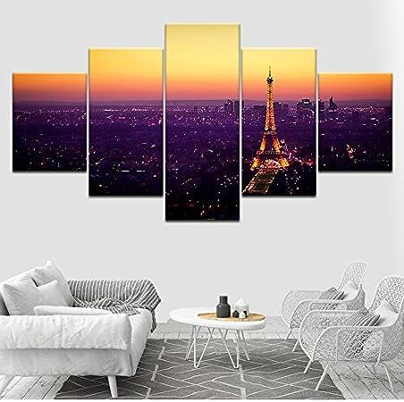 Wmyzfs Tour Au Coucher Du Soleil Ville De Paris 5 Pièce Hd
