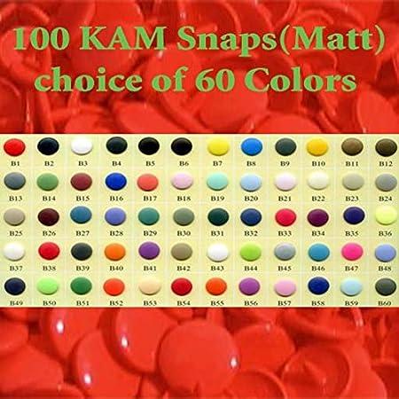 100 Sets Matt Kam Snaps Size 20 B42 Latte