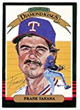 Frank Tanana autographed Diamond King Donruss Baseball Card 1985 Texas Rangers Ball Point Pen - Autographed Baseball Cards