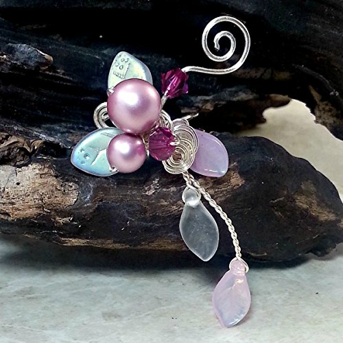 [Pink Fairy Ear Cuff Climber - No Piercing Required, Single or Pair] (Wood Fairy Costumes)