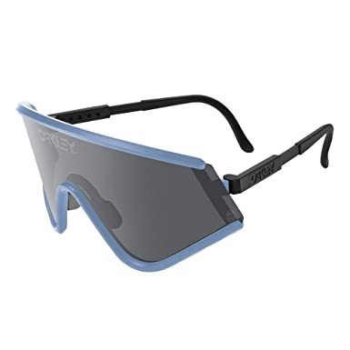 Oakley Mens Special Edition Eyeshade Heritage Sunglasses, Blue/Grey, One  Size