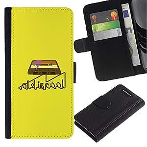 All Phone Most Case / Oferta Especial Cáscara Funda de cuero Monedero Cubierta de proteccion Caso / Wallet Case for Sony Xperia Z1 Compact D5503 // Old Cool Cassette Tape Art Retro Music