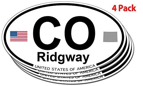 Ridgway, Colorado Oval Sticker - 4 pack