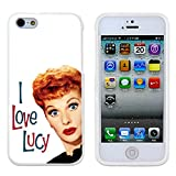 I Love Lucy Tv History Case Cover Your iPhone 5/5S Case and iPhone 5 Case ( Black Hard Plastic )