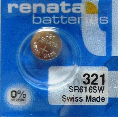 Renata 1 Silver Oxide 321 Zero Mercury Electronic Battery