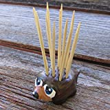 Porcupine Toothpick Holder Doubles as a Hedgehog Toothpick Holder