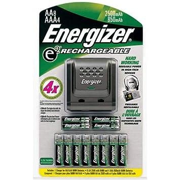 Amazon.com: Energizer – Pilas recargables y cargador – 8 ...
