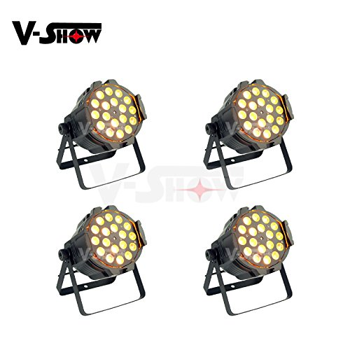V-Show 4PACKS 18X18W RGBWA+UV Zoom Indoor LED par