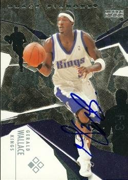 Autograph Warehouse 73830 Gerald Wallace Autographed Basketball Card Sacramento Kings 2003 Ud Black Diamond No 25