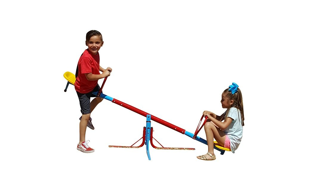 SLIDEWHIZZER 360 Hercules Seesaw – Outdoor Fun for Kids, Toddlers, Boys, Children - Playground Equipment Spinning Toys - Backyard Teeter Totter - Twirl Merry go Round playset