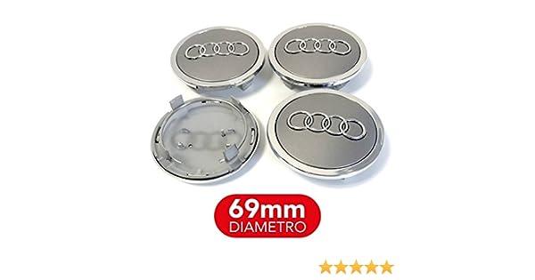 4 tapones tapacubos Audi 69 mm A3 A4 A5 A6 A7 TT Q3 Q5 Q7 Círculos Aleación Tachuelas A + +: Amazon.es: Coche y moto