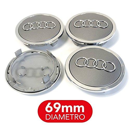 + 4/Bouchons Enjoliveur Audi 69/mm A3/A4/A5/A6/A7/TT Q3/Q5/Q7/cercles alliage rivets /à
