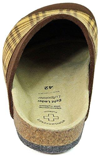 amp; mit Retro Braun ABS Filzclogs Filzsohle Kamelhaar Fußbett Pantoffel qfxPzwn