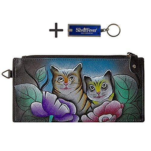 anna-by-anuschka-ladies-wallet-key-chain-lng-organizer-two-cats-grey