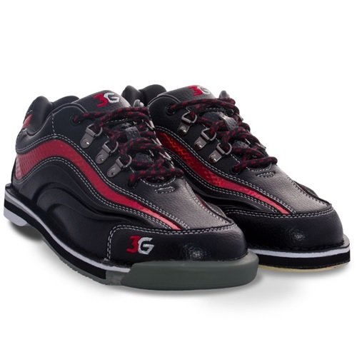 3G Sport Ultra Black/Red Men's Right Hand Bowling Shoes, Size 8