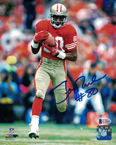 Jerry Rice Autographed/Signed San Francisco 49ers 8x10 Photo BAS