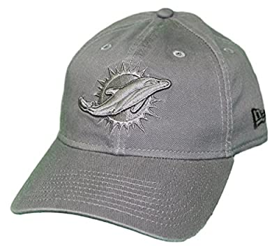New Era Miami Dolphins NFL 9Twenty Classic Tonal Adjustable Graphite Hat by New Era
