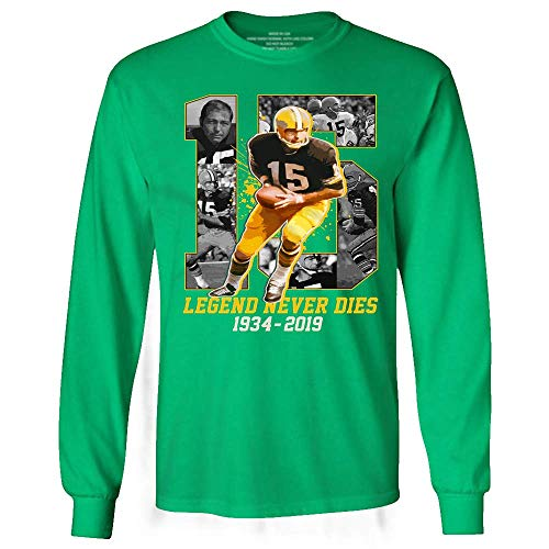 Bart-15 Legend Never Dies Thank You Starr Football Green Bay Long Sleeve Tshirt