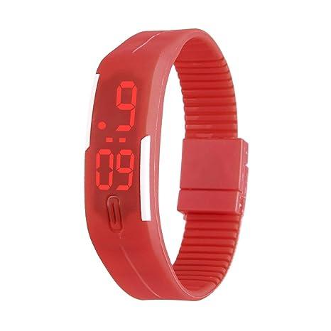 Reloj con Pulsera LED, Pulsera de Silicona electrónica LED Touch Sports Reloj de Pulsera electrónico