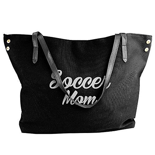 Ladies Soccer Mom Shoulder Bag Weekend Shopping Big Bag Tote Handbag Work Bag