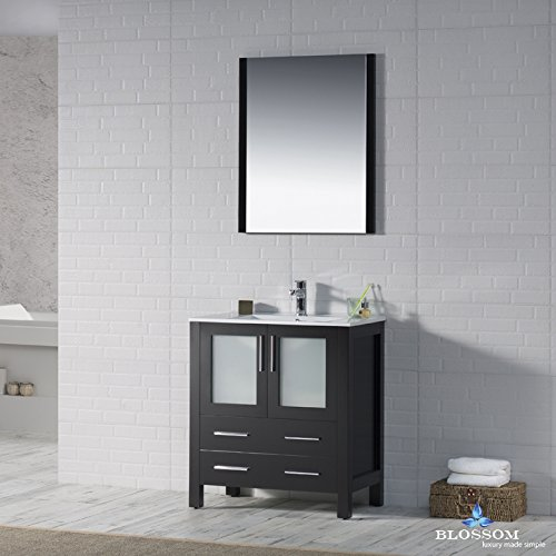 BLOSSOM 001-30-02 Sydney 30'' Vanity Set with Mirror Espresso