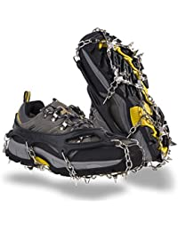 Traction Cleats Ice Snow Grips Anti Slip Stainless Steel Spikes Crampons for Footwear M/L